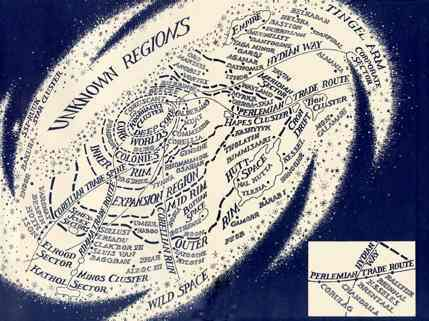 Map of the Star Wars galaxy from novel Vector Prime