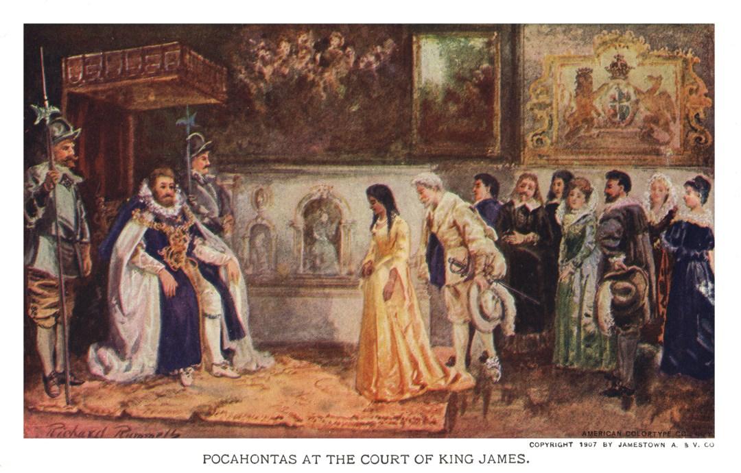 06PCJamestown Exposition00014 - Pocohantas at the court of King James copy