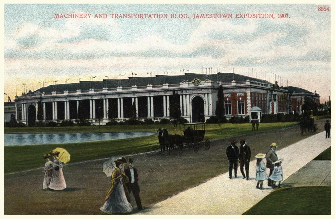 06PCJamestown Exposition00025 - Machinery and Transportation bldg copy