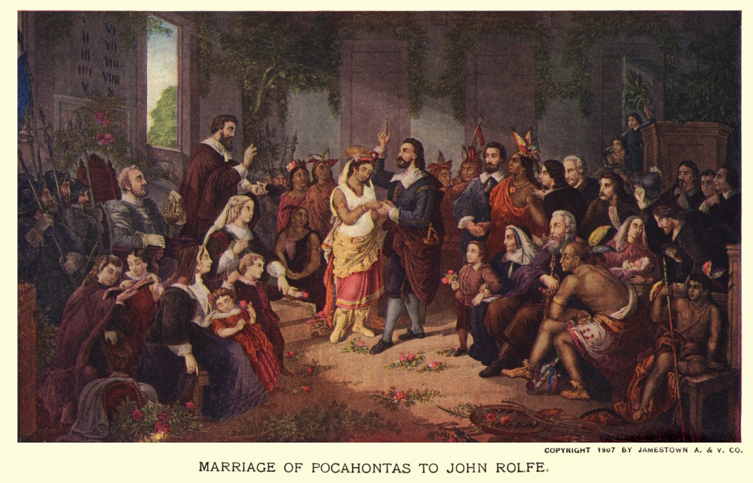 06PCJamestown Exposition00031 - Marriage of Pocohantas to John Rolfe copy