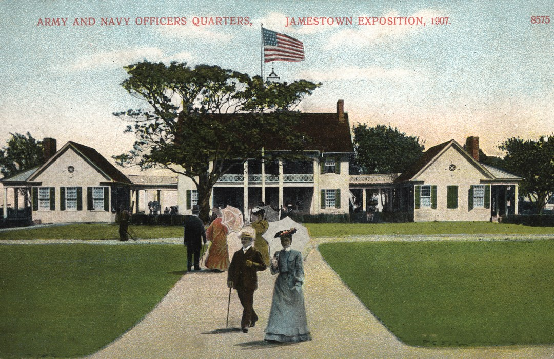 06PCJamestown Exposition00036 - Army and Navy Officers Quarters copy