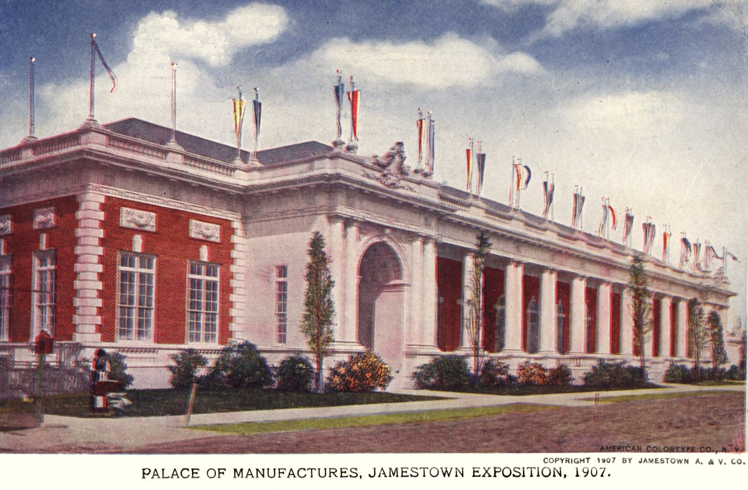 06PCJamestown Exposition00053 - Palace of Manufactures bldg copy