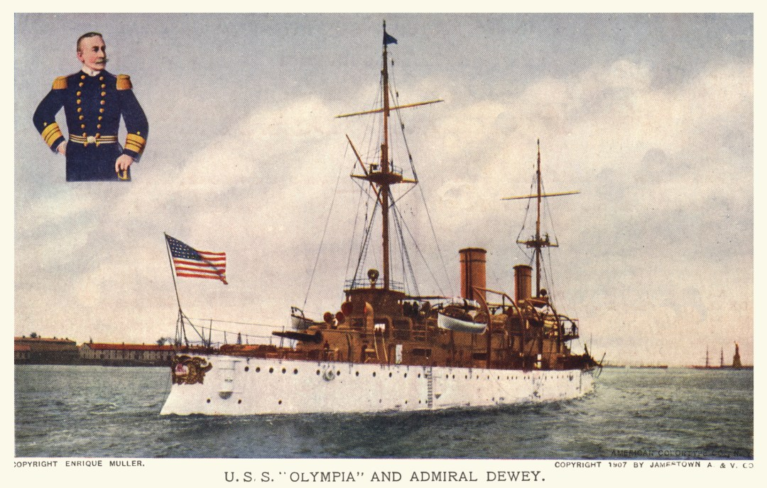 06PCJamestown Exposition00194 - USS Olympia and Adm Dewey copy