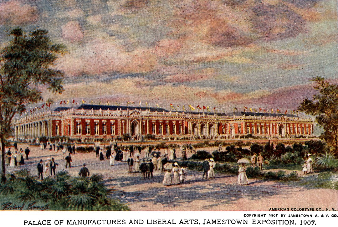 06PCJamestown Exposition00208 - Palace of Manufactures and Liberal Arts copy