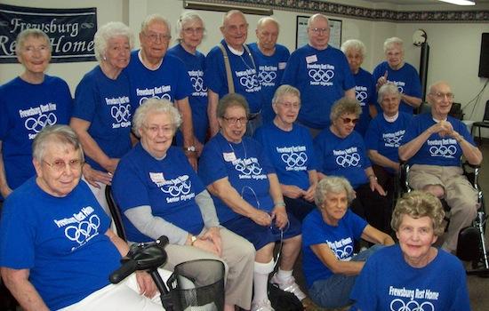 Frewsburg Rest Home Senior Olympics Team