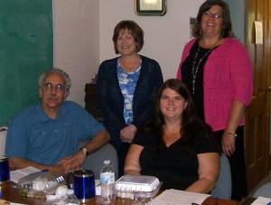 From Left: Phil Mobilia, (seated) RHI Monofrax, Pam Holmburg, Bush Industries, Sonja Johnson, Chautauqua Patrons Insurance Co. (seated) and Lori Hatfield, Hospice Chautauqua County.