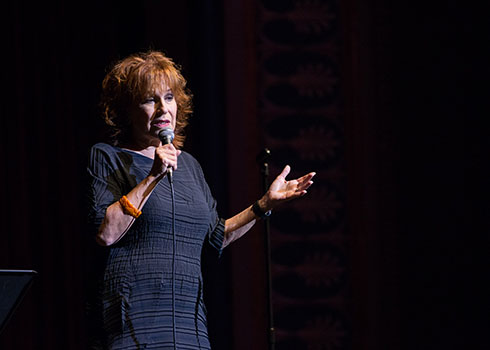 Joy Behar performed in Jamestown, NY on October 10th as part of the Lucy Town Weekend festivites