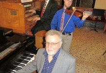 Pictured are: Brian Bogey, organist, Cody Hilliard, violinist, and Ron McEntire, pianist
