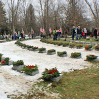 Following the laying of the wreaths in Soldier's Circle, Lake View Cemetery, Jamestown, NY