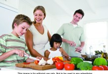 Experimenting in the kitchen during a staycation can give families the feeling of dining out that they enjoy on more traditional vacations.