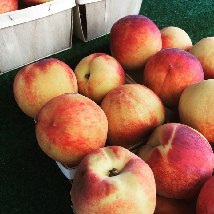 Peaches from area farm Hidden Valley Farms.