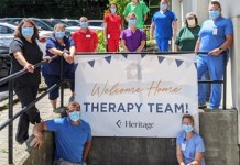 Heritage Ministries welcomed Therapy staff back as in-house Heritage employees this month at its Chautauqua County skilled nursing and rehabilitation communities. Pictured is the therapy staff at The Park in Jamestown, NY.