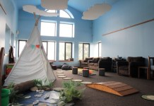 With a grant from the Ralph C. Sheldon Foundation, Audubon Community Nature Center made major upgrades to the Skyroom of its building. Because of COVID-19 precautions, the Nature Play Room is now available only by reservation.