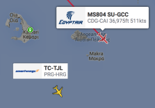 EgyptAir flight MS804 other aircraft 9