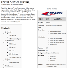Wiki Travel Service Airline Charter 0