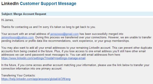 Merge Linkedin Account Confirm