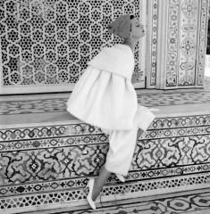 BARBARA MULLEN AT THE RED FORT Delhi, India, November 1956