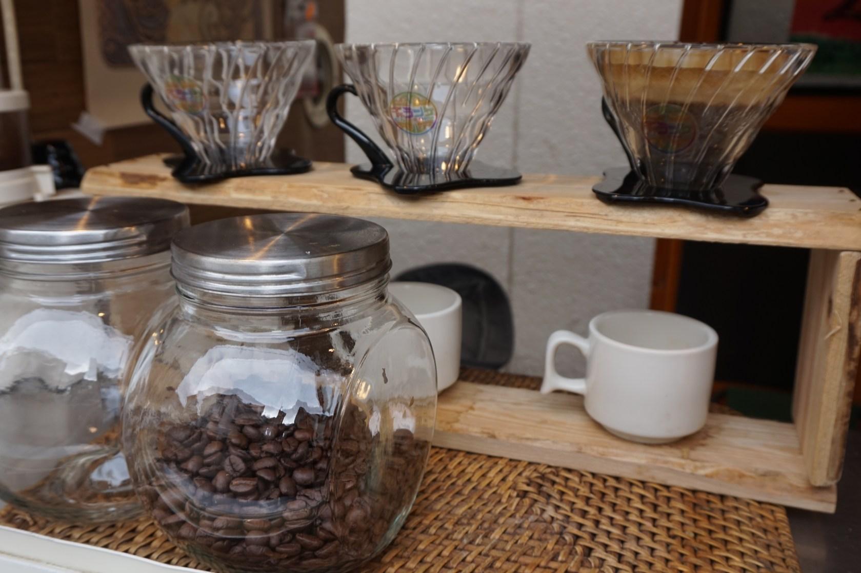 JamHouse天照の前でコーヒーやってます