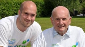 Gerry and Jamie Anderson working with the Alzheimer's Society to launch Memory Walk