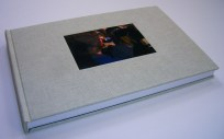 8 x 12 in. flat spine case binding, commissioned photo book, 2013