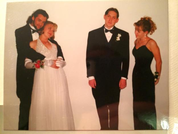 prom with bryan, michi, adam, jamie 1996