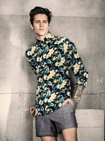 H&M S/S14 Menswsear Lookbook h&m man trend floral print shirt ss14 ss14 lookbook collection