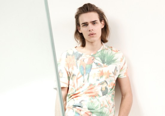 Bershka 'April' Menswear S/S14 Lookbook Update. Bershka zara inditex summer spring ss14 springsummer14 menswear prints patterns colour tropical holiday getaway packing summer sun tropical toucan parrots palm tree