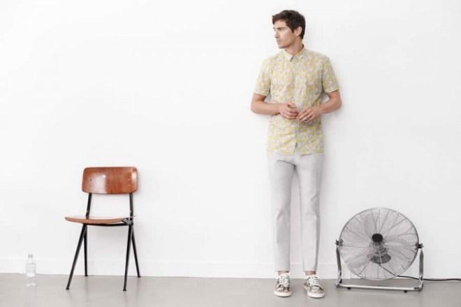 Zara Man S/S14 'May' Lookbook Update. elephant print shirt pattern shoes sneakers vans trainers