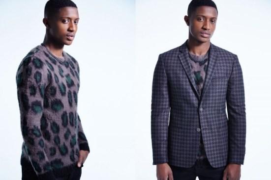 River Island A/W14 Menswear Lookbook animal prints tweed jackets style blazer suiting jumper