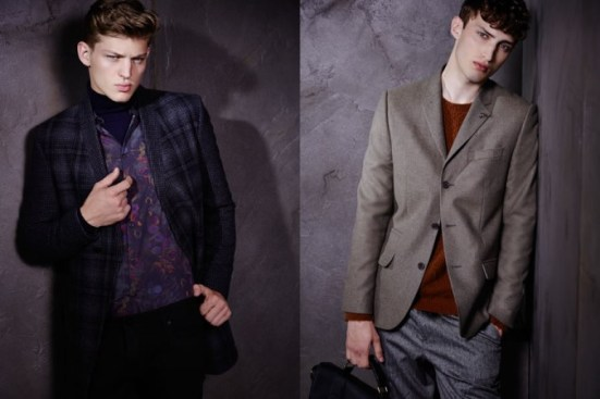 River Island A/W14 Menswear Lookbook fashion menswear mensfashion style suiting tailoring suit jacket blazer tweet floral prints patterns