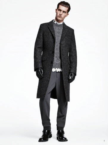 H&M Man Trend A/W14 Lookbook, 'All Black Everything'. leather wool merino style fashion menswear mensfashion trend collection lookbook grey black all black everything