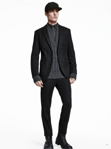 H&M Man Trend A/W14 Lookbook, 'All Black Everything'.