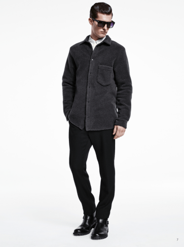 H&M Man Trend A/W14 Lookbook, 'All Black Everything'. wool leather black lookbook collection style fashion menswear mensfashion