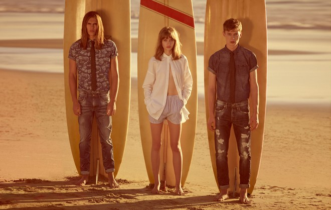 Pull & Bear Menswear Trend Reflection Lookbook S/S14 california surf beach style festival summer holiday getaway trip summer sun fashion style