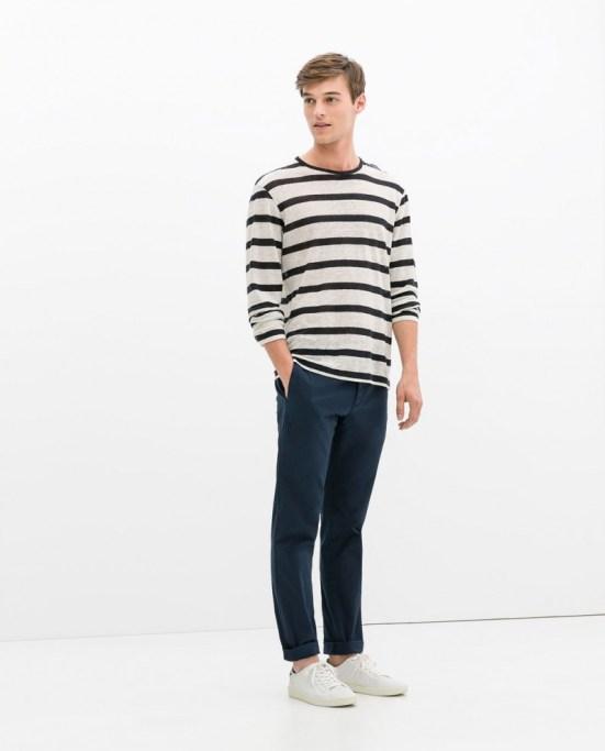 Zara Man S/S14 Lookbook Update. Zara menswear mensfashion style fashion denim stripes bretton nautical spring summer ss14 fashion style lookbook collection campaign