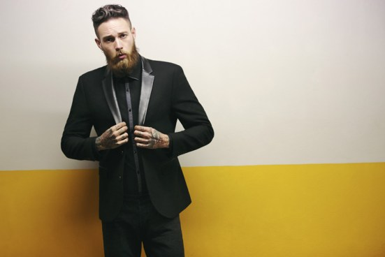 Moss Bross Debut Their 'Moss London' AW14 Menswear Collection menswear bearded tatooed male model billy Huxley tailoring suiting fashion style lookbook collection aw14 autumn winter
