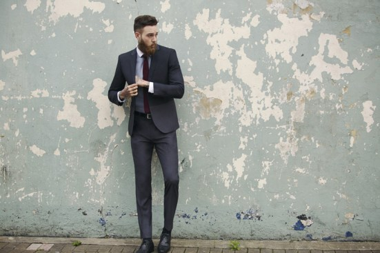 Moss Bross Debut Their 'Moss London' AW14 Menswear Collection suiting tailoring menswear mensfashion lookbook collection fashion bearded model billy huxley