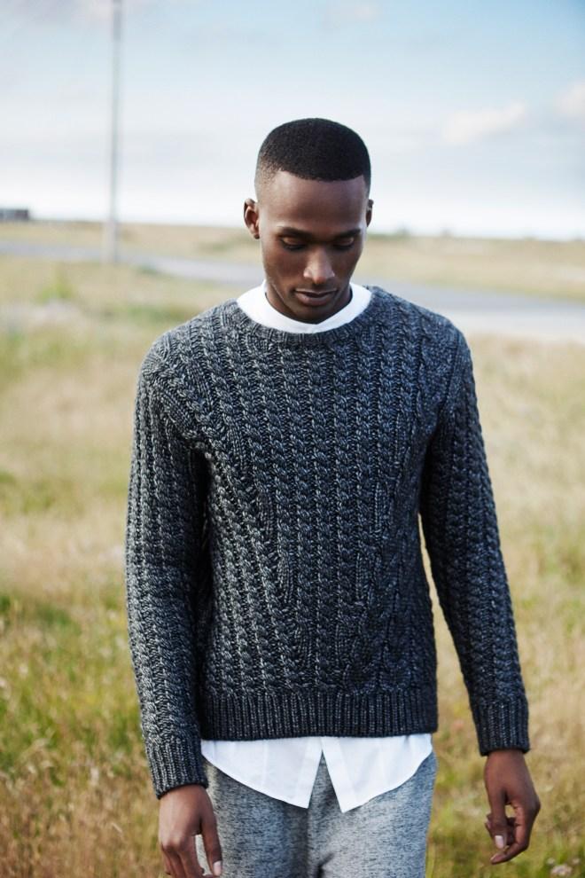River Island Holloway Road A/W14 Menswear Lookbook grey knitwear jumper style fashion menswear mensfashion lookbook collection