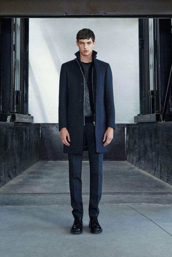 Zara A/W14 Menswear Lookbook Update winter duffel coat menswear mensfashion leather quilited front jumper