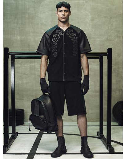 Alexander Wang For H&M Full Menswear Lookbook #AlexanderWangxHM leather black neoprene black accessories menswear mensfashion outfit post exclusive designer