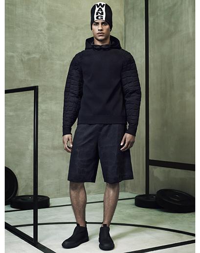 Alexander Wang For H&M Full Menswear Lookbook #AlexanderWangxHM alexander wang H&M collaboration menswear mensfashion all black everything leather neoprene