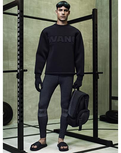 Alexander Wang For H&M Full Menswear Lookbook #AlexanderWangxHM wang detail sweater leather backpack