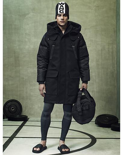 Alexander Wang For H&M Full Menswear Lookbook #AlexanderWangxHM menswear puffa coat jacket outerwear duffle coat