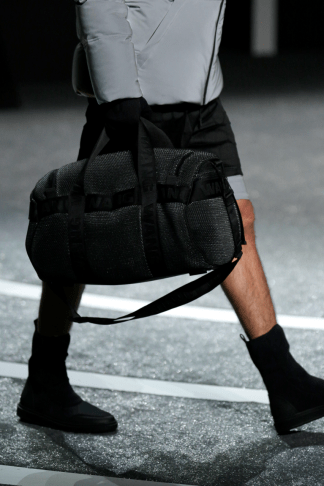 Alexander Wang For H&M Menswear Collection #AlexanderWangXHM leather neoprene leggings holdall bag boots shoes accessories