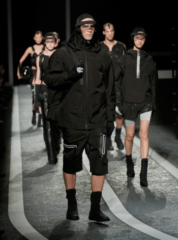 Alexander Wang For H&M Menswear Collection #AlexanderWangXHM menswear aw14 designer collaboration exclusive capsule collection style fashion lookbook all black neoprene sports