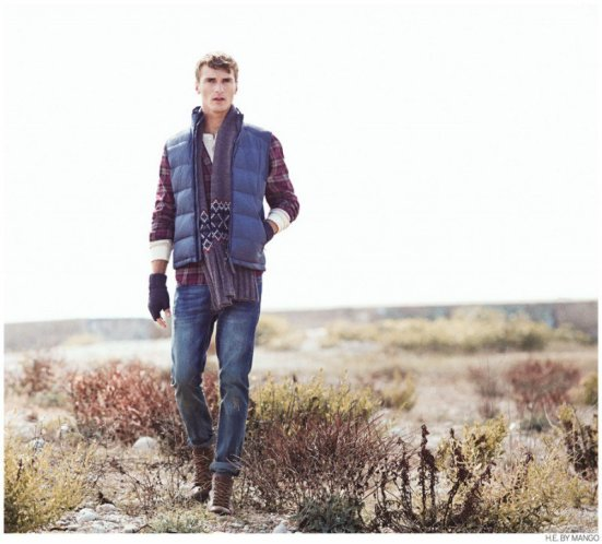 HE By Mango A/W14 Lookbook Update. menswear mensfahsion denim plaid shirt