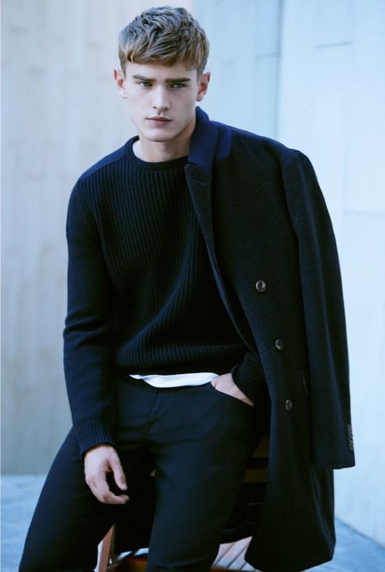 HE By Mango A/W14 November Lookbook Update. menswear zara mango inditex highstreet spanish fashion knitwear jacket coat peacoat trench coat mac burberry