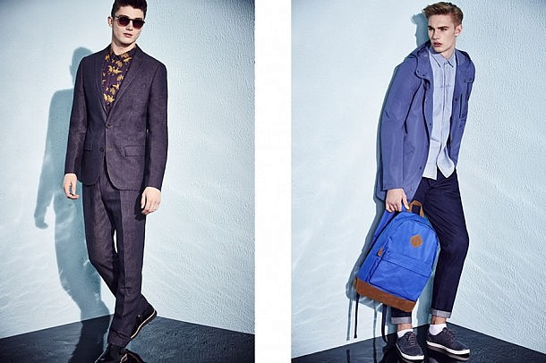 River Island S/S15 Menswear Lookbook spring summer 2015 style fashion suiting tailoring lookbook denim jacket coat accessories