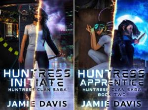Huntress Clan Sage first two book covers