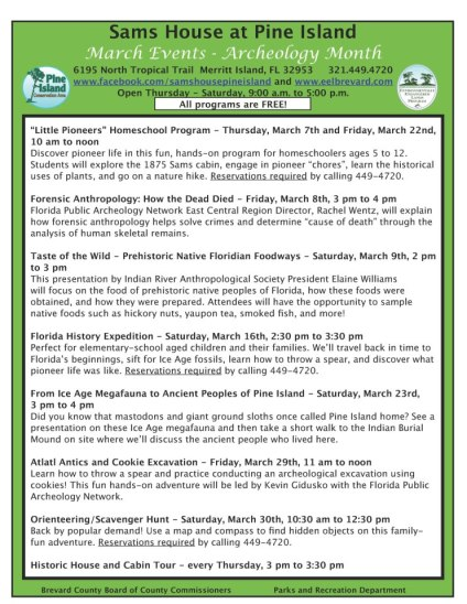 Events for March 2013